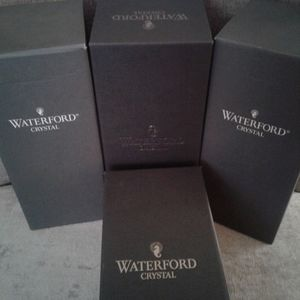 """4 New In Box Waterford Crystal """"Aurora"""" Glasses"""